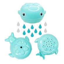 Забавные милые детские игрушки для ванной пластик в форме Кита спрей для воды для новорожденных душ игрушки для плавания подарки