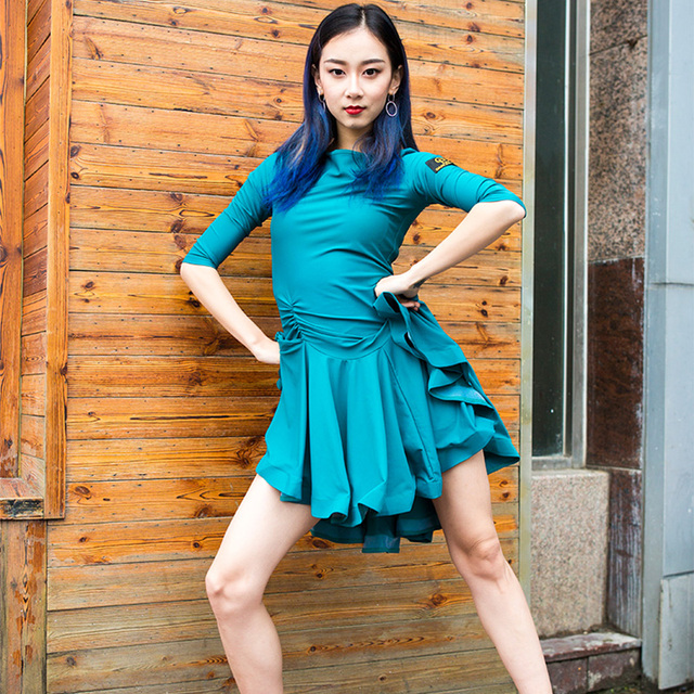 EW ชุดละตินผู้ใหญ่ปฏิบัติ 2020 ผู้หญิงโมเดิร์นเต้นรำสุภาพสตรีปาร์ตี้เต้นรำชุดเต้นรำละตินเสื้อผ้าผู้หญิง