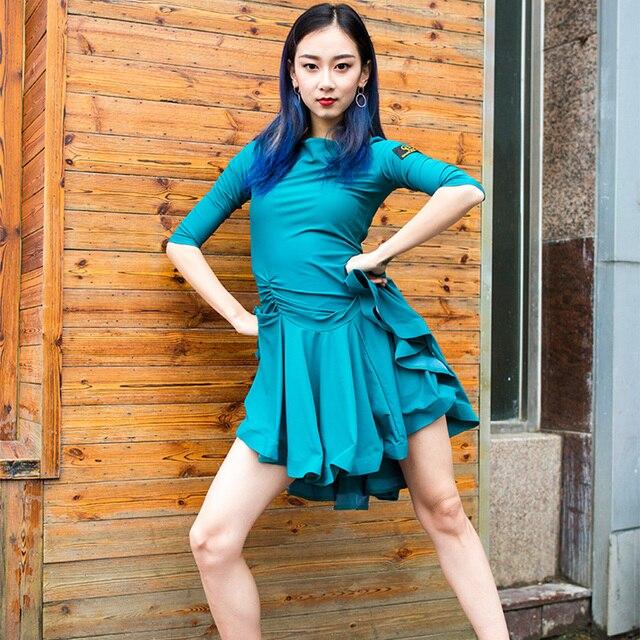 Ew اللاتينية فستان ممارسة الكبار فستان 2020 المرأة الحديثة الرقص فستان السيدات حفلة الرقص زي الرقص اللاتينية ملابس النساء