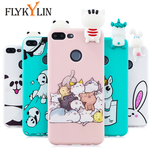 FLYKYLIN Silicone Case For Huawei P Smart 2019 Back Cover on Honor 9 Lite 10 Lite 7X Phone Coque Unicorn Cat 3D Doll Toys Shell(China)