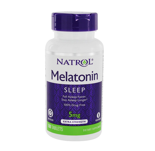 Natrol メラトニン 5 mg 100 個