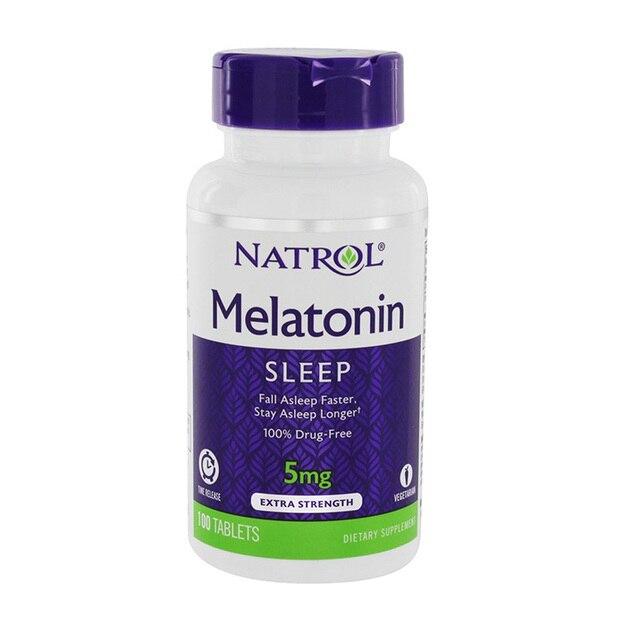 Natrol melatonina, 5 mg, 100 Uds.