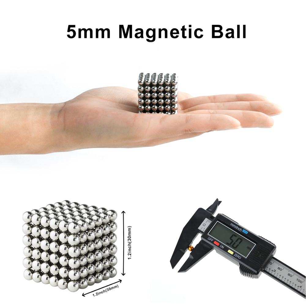 EGFHEAL Balls Magnets Toys Sculpture Building Magnetic Blocks Puzzle Cube Gift 3mm Decompression Toy DIY Stress Relief Toy 216PCS Green