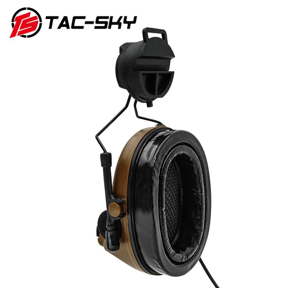 Купить с кэшбэком TAC-SKY COMTAC II helmet bracket silicone earmuffs outdoor hunting sports noise reduction pickup military tactical headset c2CB