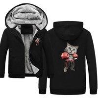 Puglism Starke Boxer Kinder Lustige Hoodie Print 3D Jacket Men 2019 Winter Warm Sweatshirt Hip Hop Street Costume
