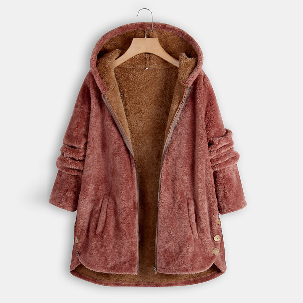 Oversized Coat Outerwear Clothing Parka Teddy Warm Winter Womens Loose Bear-Icon Thick title=