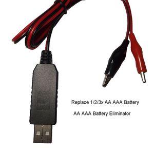 Image 2 - Понижающий фильтр для батарей AA/AAA, USB 5 В до 1,5 В/3 в, понижающий зажим для кабеля, регулируемая линия преобразователя Напряжения для часов и пультов дистанционного управления