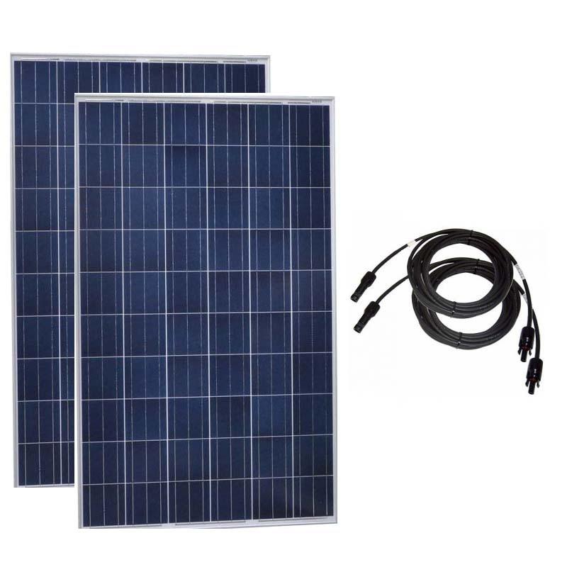 Solar Panel 250w 30v 2 Pcs Panneaux Solaire 500w 220v Charger Solar Home System Campervan Motorhome Car Caravan Camping Rv LED Solar Cells     - title=
