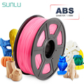 Filamento de impresora ABS 3D 100% extruido de 1,75mm sin impresora de burbujas consumible 1KG con carrete ABS filamento sublimación suministros