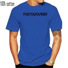 2019 fotógrafo angustiado olhar cinza 100% algodão camiseta ótima qualidade