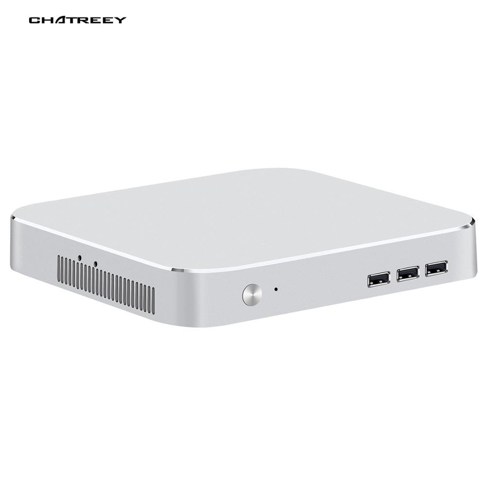 Chatrey mac mini computador intel quad core i3 i5 i7 desktop gaming mini computador pré-instalado windows 10 4k uhd htpc suporte linux