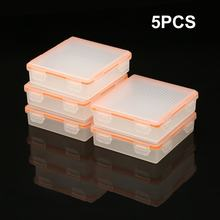 5pcs Soshine 4 Cell 18650 Battery Waterproof Storage Case 18650 Transparent Battery Holder Box Hard Plastic Protective Case(China)
