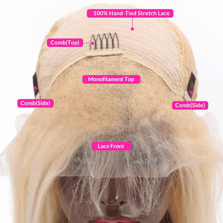 Luvin OneCut Hair Deep Wave HD Transparent 613 Honey Blonde Brazilian Human Hair Wigs  Lace Frontal Wig For Black Woman
