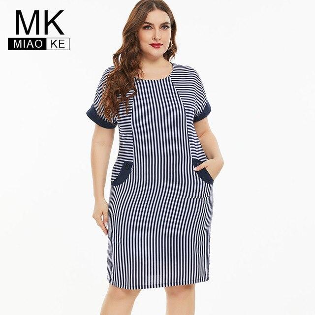 Plus Size stripe dress Vintage & elegant  1