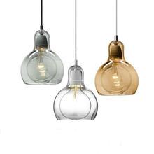 Люстра стеклянная Эдисона в нордическом минималистическом стиле