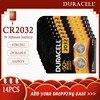 14PCS Originale per CR2032 DURACELL Batteria Delle Cellule del Tasto 3V Batterie Al Litio per Watch Calcolatrice Del Computer di Controllo DL/CR 2032