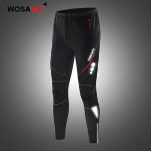Image 2 - WOSAWE Männer Motorrad Hosen Winddicht Schutz Getriebe Motocross Motorrad Reiten Hosen Moto Hose Fleece Warme Up