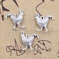 10 шт. Подвески Петух Курица 22x20x6 мм Античные Подвески из серебра поделки своими руками изделия ручной работы тибетские ювелирные изделия