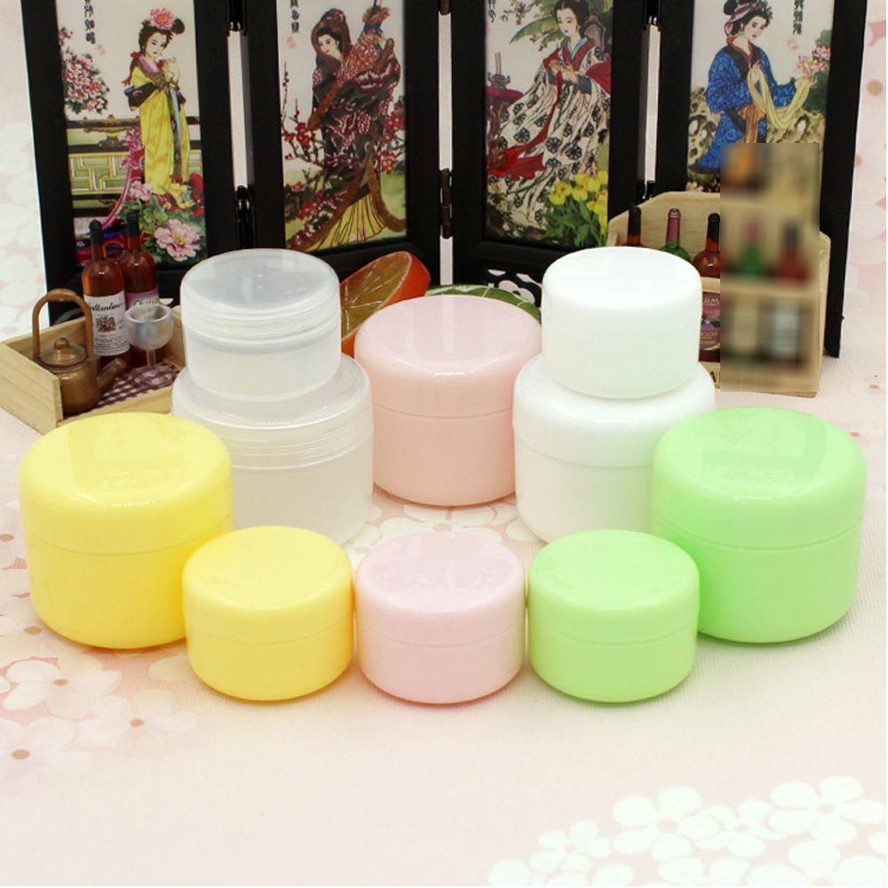 1PCS Refillable Bottles Plastic Empty Makeup Jar Pot Travel Face Cream/Lotion/Cosmetic Container 5 Colors