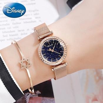 2020 New Bling Starry Ladies Luxury Rhinestone Diamond Cut Women Stainless Steel Mesh Band Watch Woman Quartz Watches Girl Clock