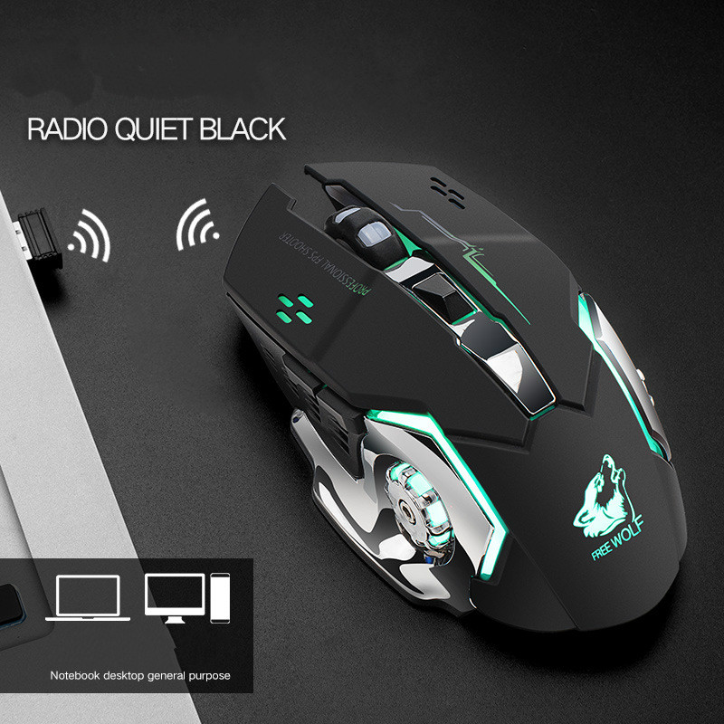 Беспроводная оптическая эргономичная мышь 24 ГГц 1600dpi