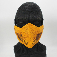 Game Mortal Kombat 11 Cosplay Mask Half Face Resin Toys Halloween Party Costume Props