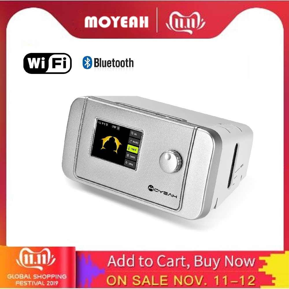 MOYEAH Auto CPAP/APAP เครื่อง 20A สำหรับหยุดหายใจขณะหลับ OSA Vibrator Anti Snoring Ventilator With WIFI อินเทอร์เน็ต Humidifier CPAP หน้ากาก