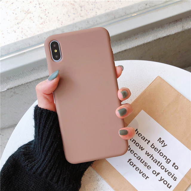 Ottwn Solid Color Silicone Couple Cases For iphone