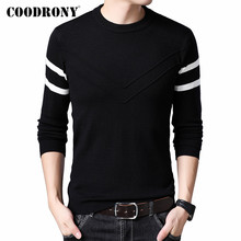 COODRONY Brand Sweater Men Casual O-Neck Pull Homm