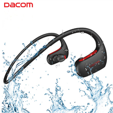 DACOM L05 Bluetooth Headphones Bass IPX7 Waterproof Wireless Earphone Sports Bluetooth Headset with Mic for iPhone Xiaomi Huawei alwup bluetooth headphones ipx4 waterproof wireless headphone sports bass bluetooth earphone with mic for phone iphone xiaomi