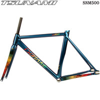 TSUNAMI compete for speed SNM500 Bicycle Frameset Aluminium Frame with Carbon Fork 52cm 55cm Chameleon Bike Frameset