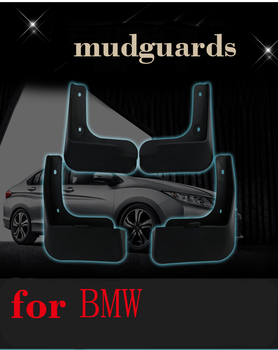 Auto Front Rear Mud Flaps 4pcs for BMW X1 2016/2017/2018 Mudguards special car fender Mud Flaps Mudflaps