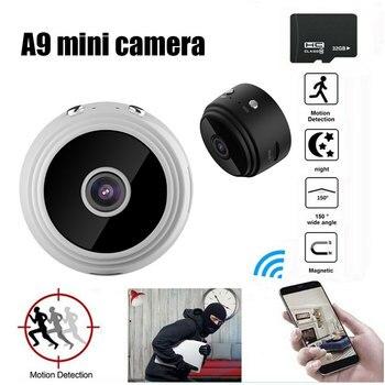 1080P Full-HD Small Wifi Camera A9 Mini IP TF Card 32GB IR Night Vision Micro Motion Detection