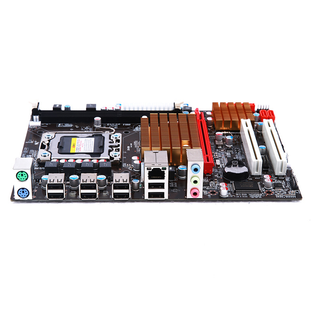LGA 1366 High Efficiency 10 USB Ports Desktop Components DDR3 CPU <font><b>Dual</b></font> Channels MicroATX PCI E SATAII Stable <font><b>Motherboard</b></font> image