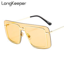 Солнцезащитные очки оверсайз для мужчин и женщин роскошные брендовые