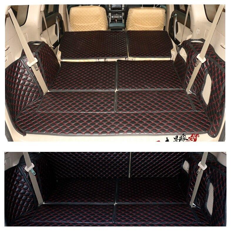 Car Boot Mat Cargo Mat Cargo Liner Cargo Tray Cargo Cover Trunk Mat Custom Fit for Toyota Land Cruiser Prado 150 Series 7-Passenger 2008 2009 2010 2011 2012 2013 2014 2015 2016 2017 2018 2019 2020