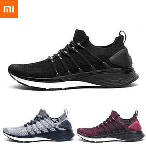 Image 1 - New Arrived Xiaomi Mijia Sneakers 3 Mens Outdoor Sports Uni moulding 3D Fishbone Lock System Knitting Upper Men Running Shoes