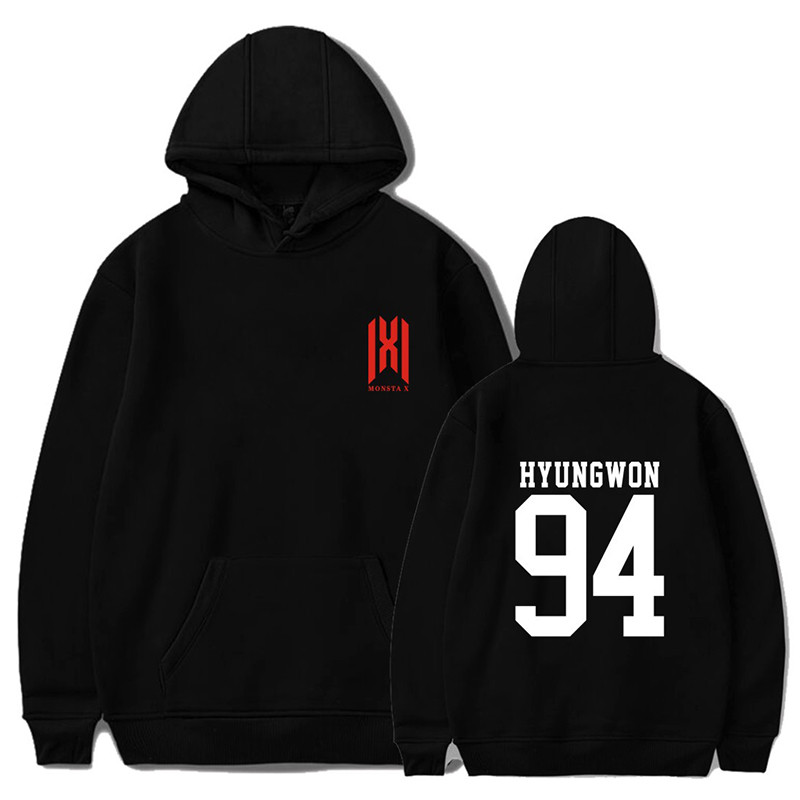 PG038 Monsta X World Tour MonstaX Member Name Hoodies KPOP Hooded Pullovers