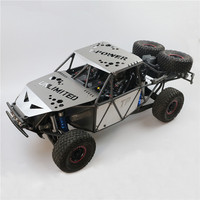 Stainless Steel Hull Armor Hood Top Cover Side Panel With LED Lights for Traxxas UDR Unlimited Desert Racer RC Car Shell
