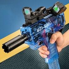 New Electric UZI Blaster Burst Kids Gun Toy Live Assault Sniper Airsoft Gun Weapon Outdoor Soft Darts Bullet Gun Toys For Boys
