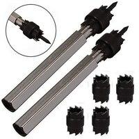 Cortador de solda de ponto  2 pacote de 3/8 polegada rotativa ponto solda cortador removedor broca bits ferramenta + 4 lâminas de substituição dupla face