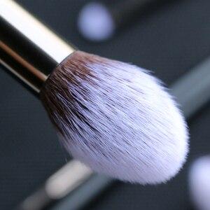 Image 5 - Sywinasสีดำชุดแปรงแต่งหน้า12PcsคุณภาพสูงSynthetic Hair Contour Eyeashadow Make Upชุดแปรง