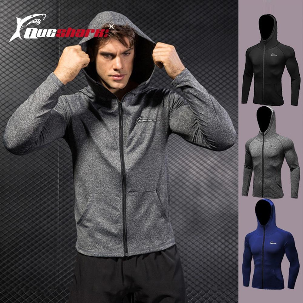 Men Hooded Sweatshirt Zipper Coat Jacket Gym Muscle Fitness Sportswear Blouse