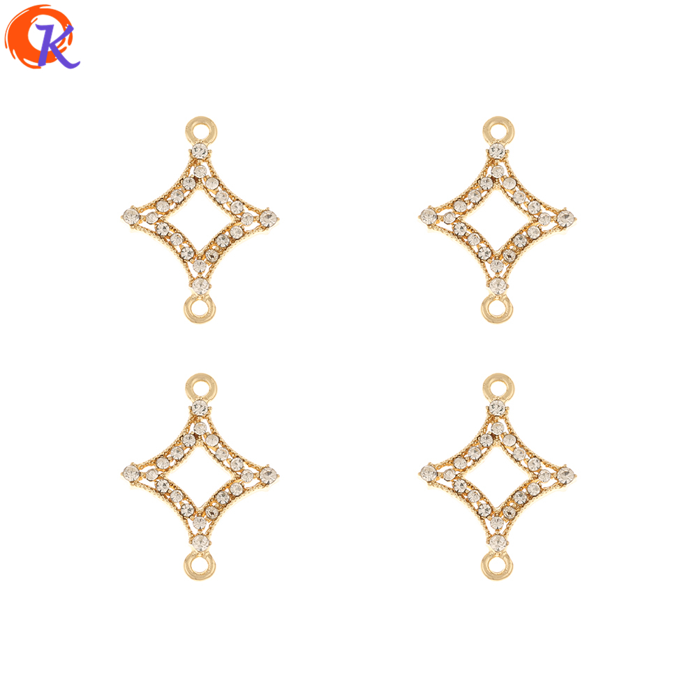 Cordial Design 50Pcs 18*24MM Jewelry Accessories/Hand Made/Rhinestone Charms/Geometry Shape/DIY Part/Connectors/Earring Findings