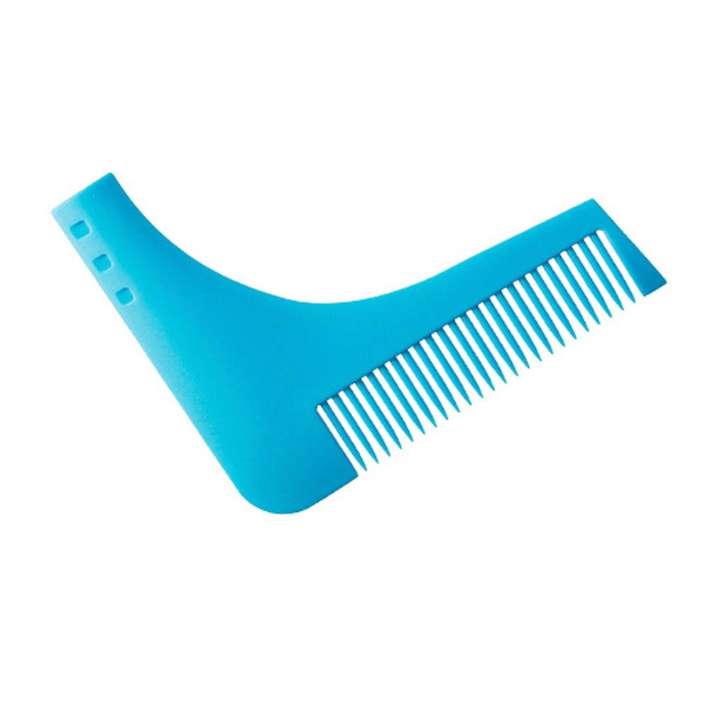 Купить с кэшбэком Durable Plastic Men Beard Trimmer Comb 2 Colors Gentleman Beard Shaving Molding Combs Template Trimming Tools Easy To Use
