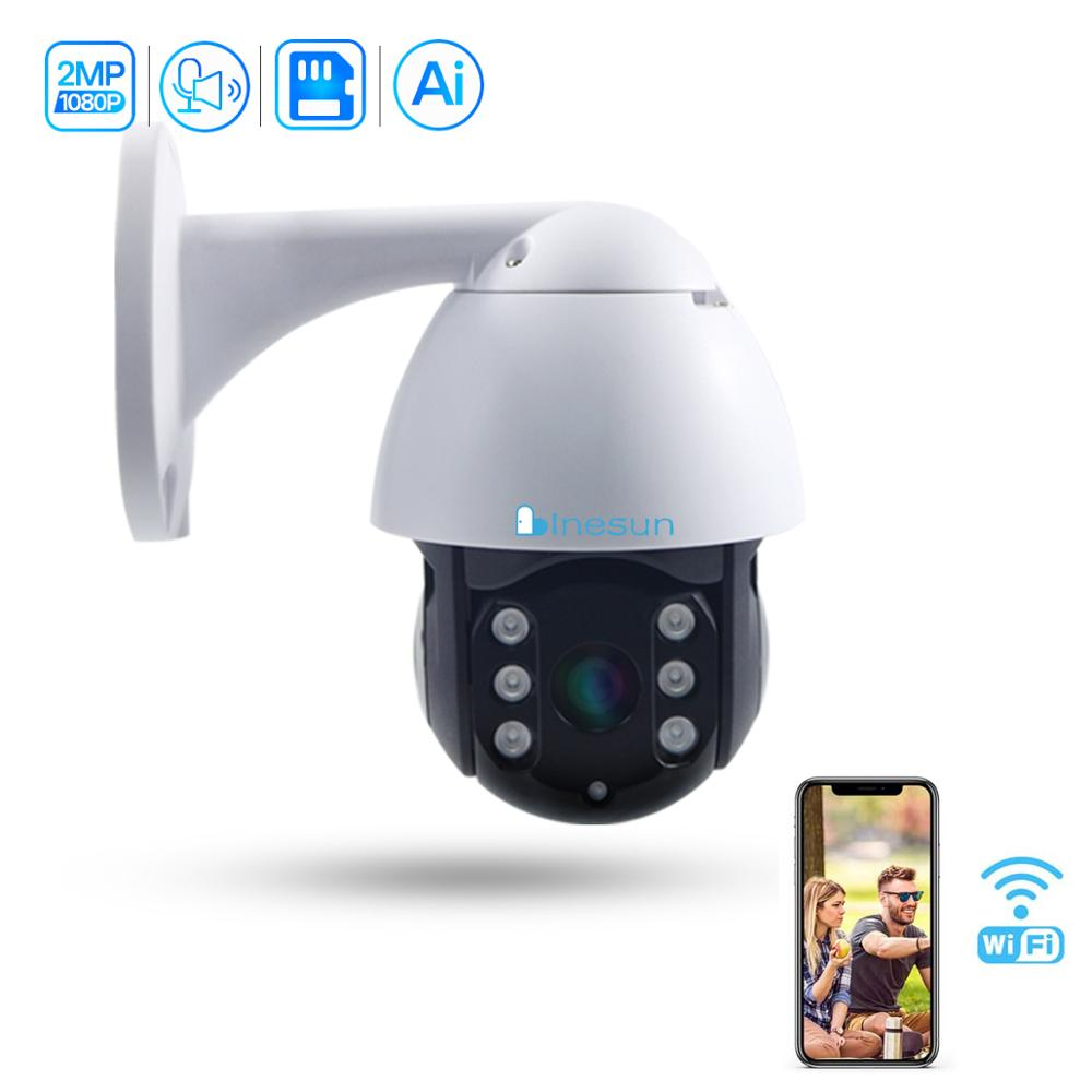 Inesun [2020 Newest] Outdoor Wireless Security Camera 1080P HD WiFi PTZ IP Camera Waterproof Support Auto Tracking Two Way Audio