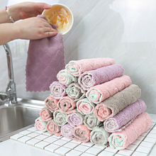 2020 Best Selling Dry & Wet Home Cleaning Dishrag Double-Sided Absorbent Cloth Non-Linting Dish Towel for Kitchen Bathroom Bar