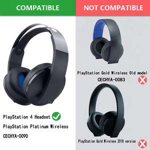 Image 2 - Poyatu CECHYA 0090 Earpads for Sony PlayStation Platinum Wireless Headset Headphone PS4 Replacement Earpad Ear Pad Cushion Cups
