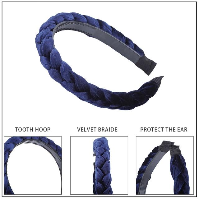 MOLANS Hair Accessories Wide Shiny Weaving Hairbands Braided Headband Hair Hoop Fashion Hair Bands Bezel Headdress 2