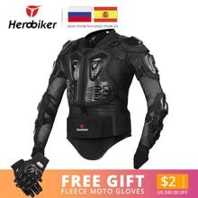 HEROBIKER мотоциклетная куртка мужская полное тело мотоциклетная Броня мотокросса гоночная Мото куртка для езды на мотоцикле защита размер S-5XL